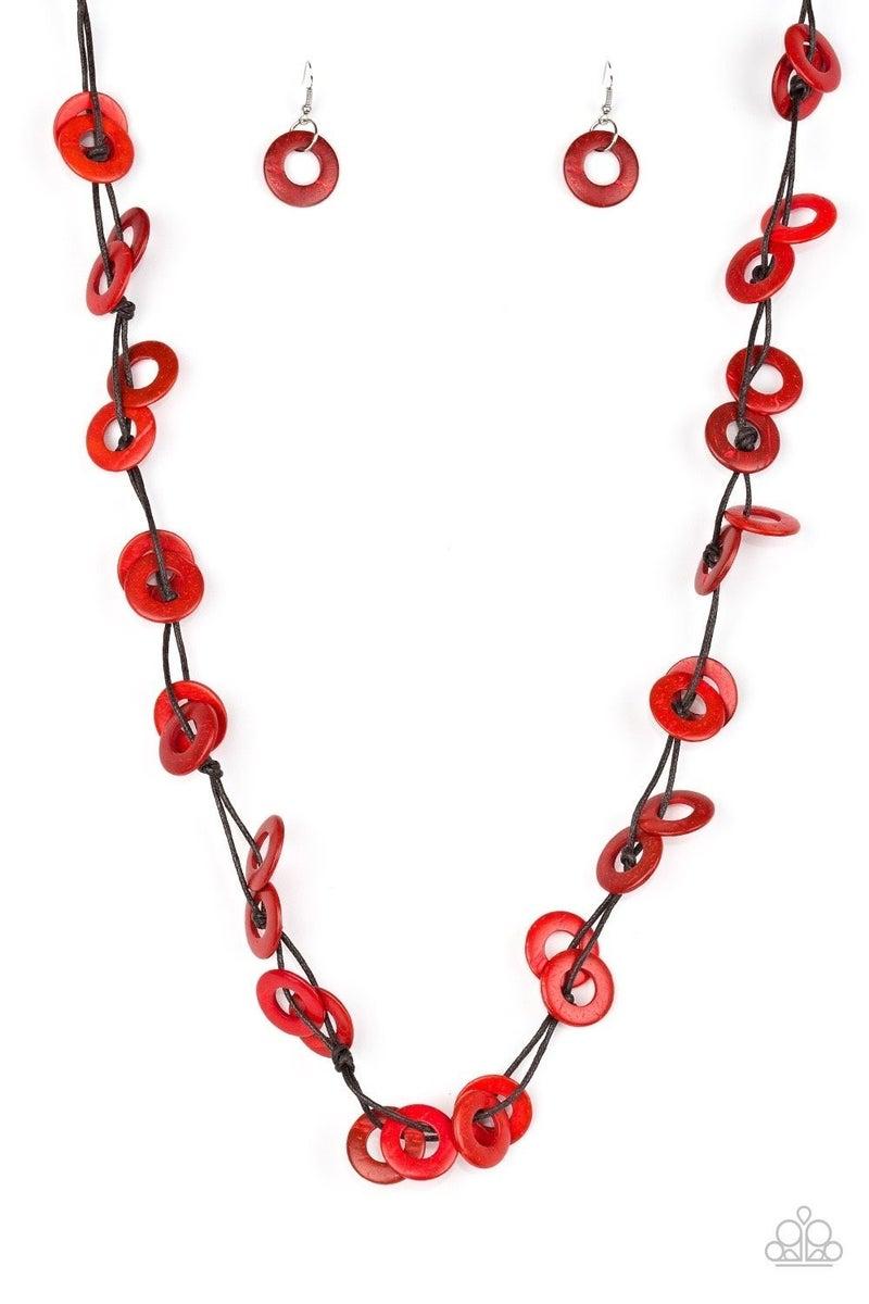 Waikiki Winds Red Necklace