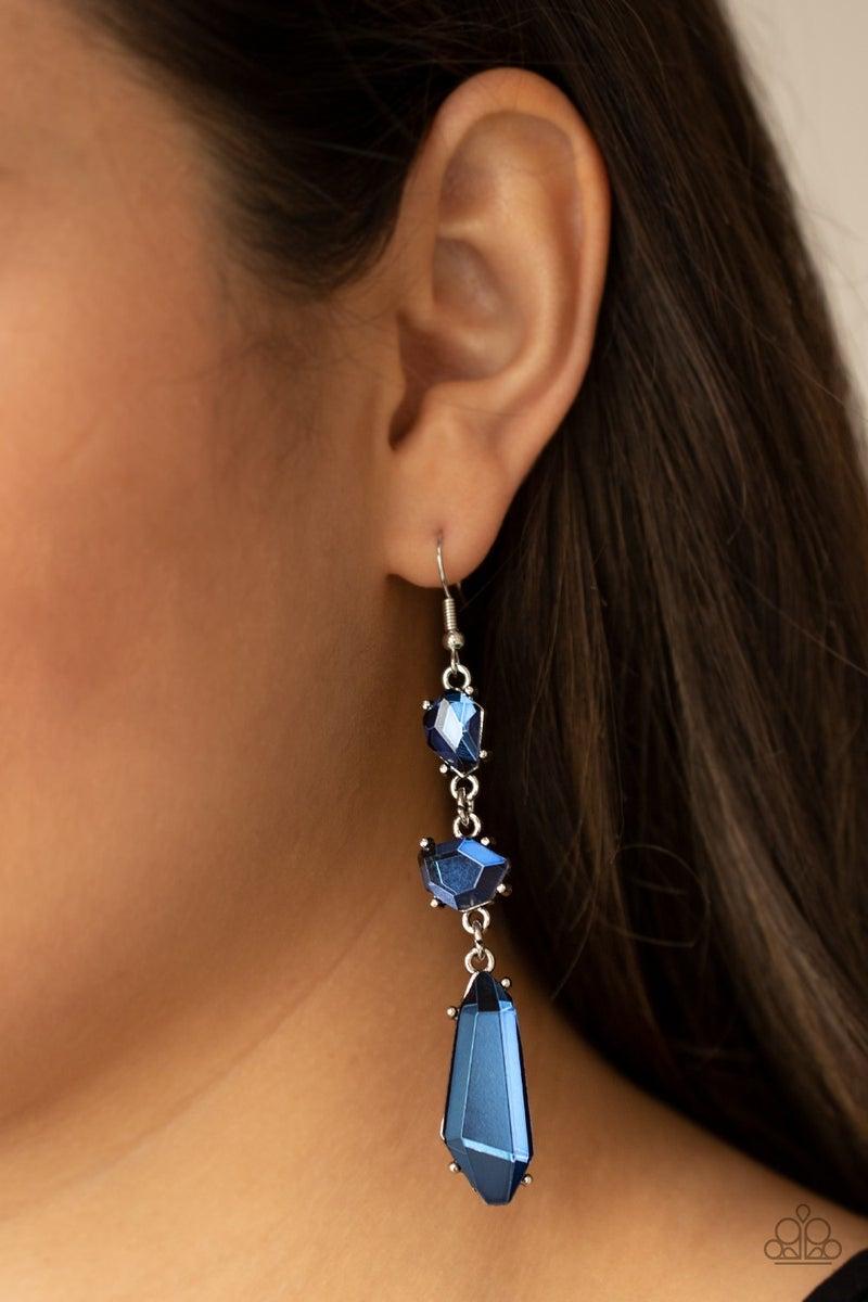 Sophisticated Smolder Blue Earring - PREORDER