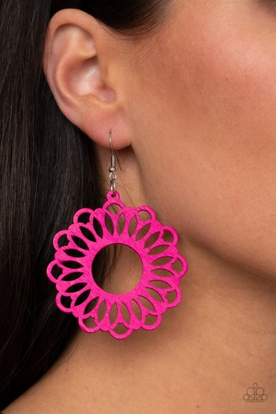 Dominican Daisy Pink Earring