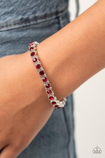 Starry Social Red Bracelet - Sparkle with Suzanna