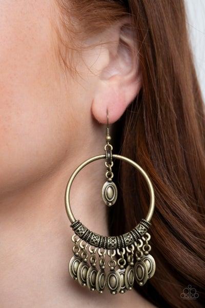 Metallic Harmony Brass Earring
