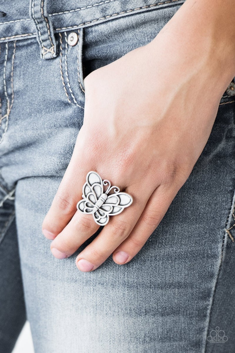 Sky High Butterfly Silver Ring