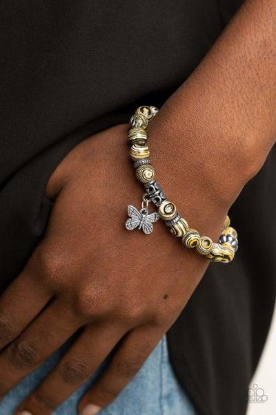 Butterfly Wishes Yellow Bracelet - PRECLAIM