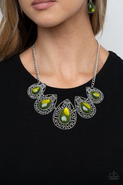 Opal Auras Green Necklace