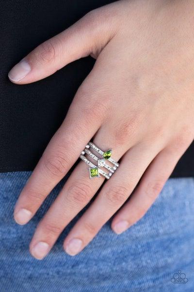 Triple Throne Green Ring