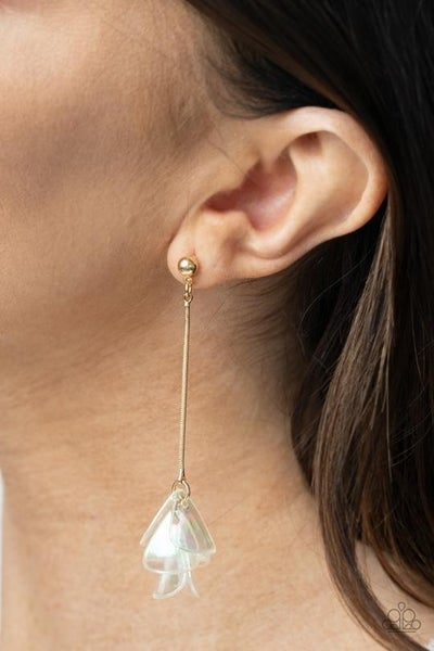 Keep Them In Suspense Gold Post Earring - Sold Out!