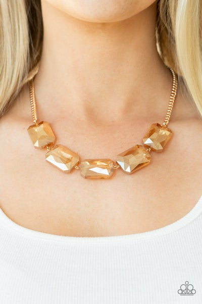 Heard it On the Heir-Waves Gold Necklace