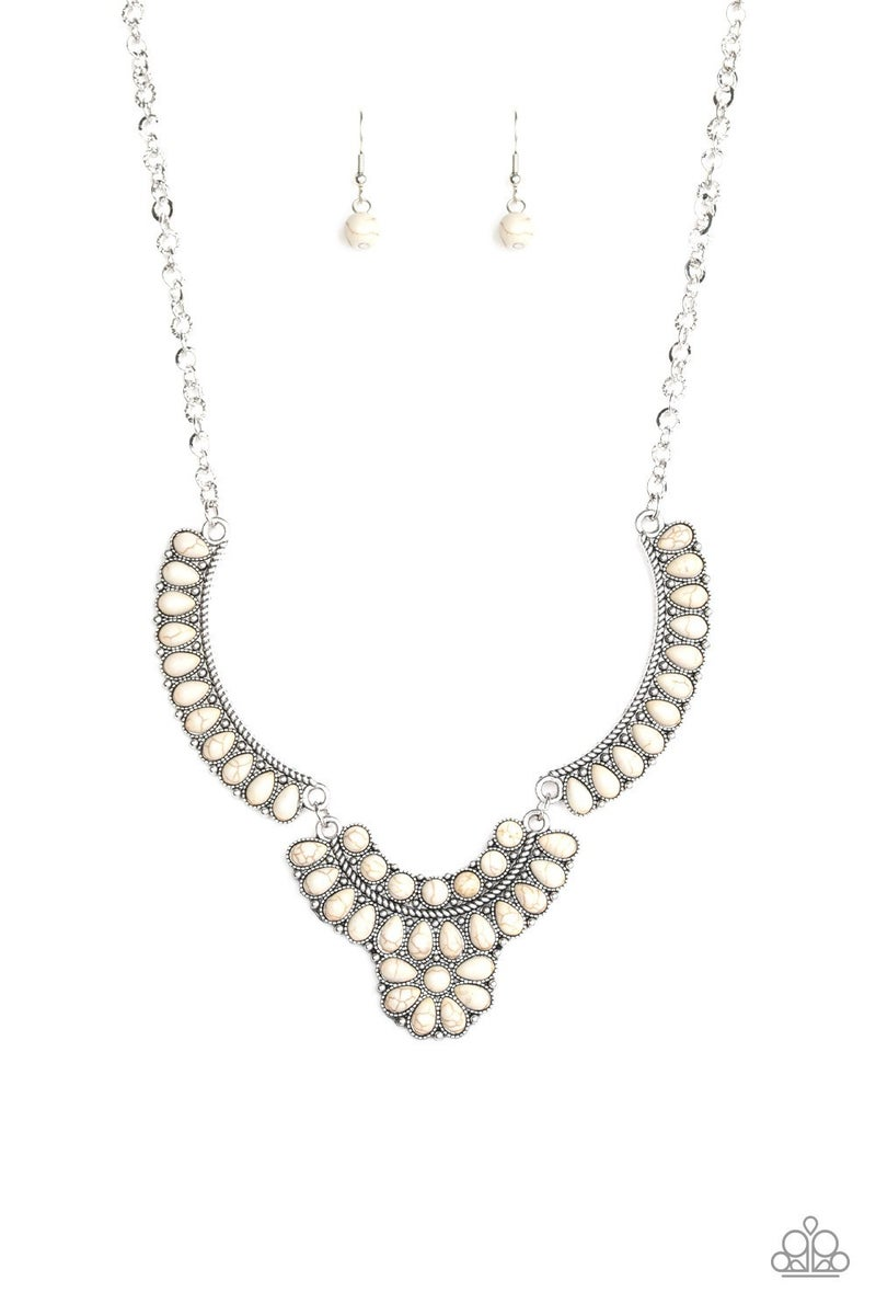 Omega Oasis White Necklace - Sparkle with Suzanna