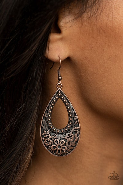 Organically Opulent Copper Earring