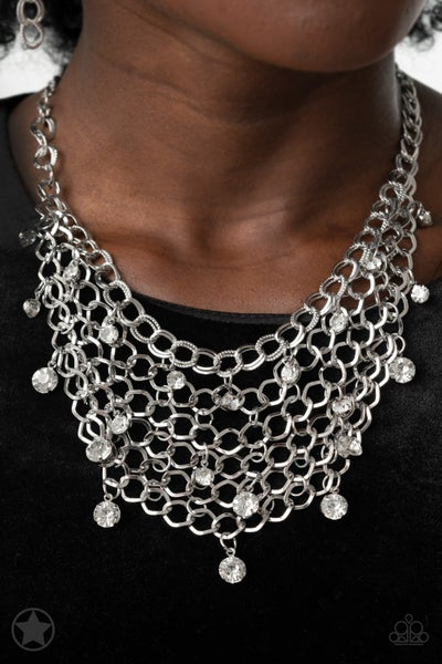 Fishing for Compliments Silver Neclace