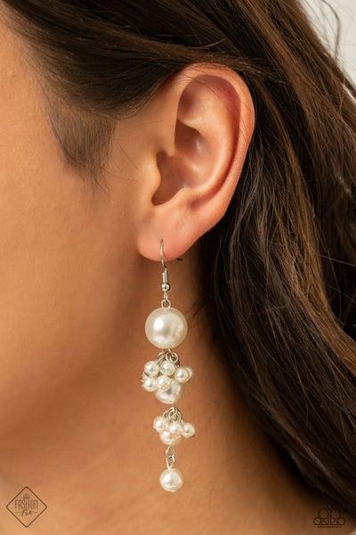 Ageless Applique White Earring