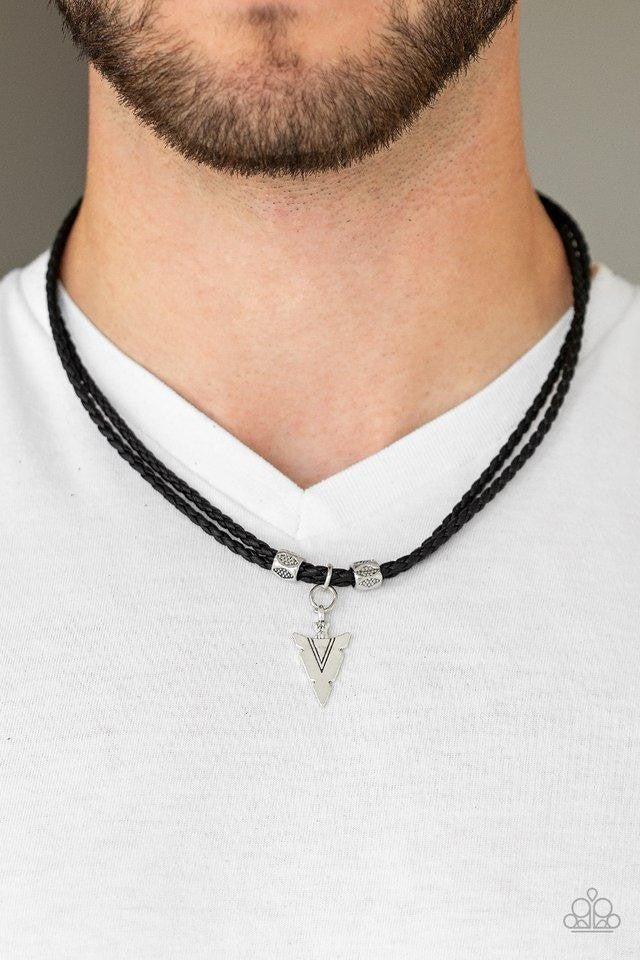 Arrow Edge Black Urban Necklace