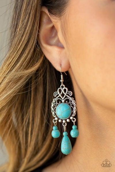 Stone Bliss Blue Earring