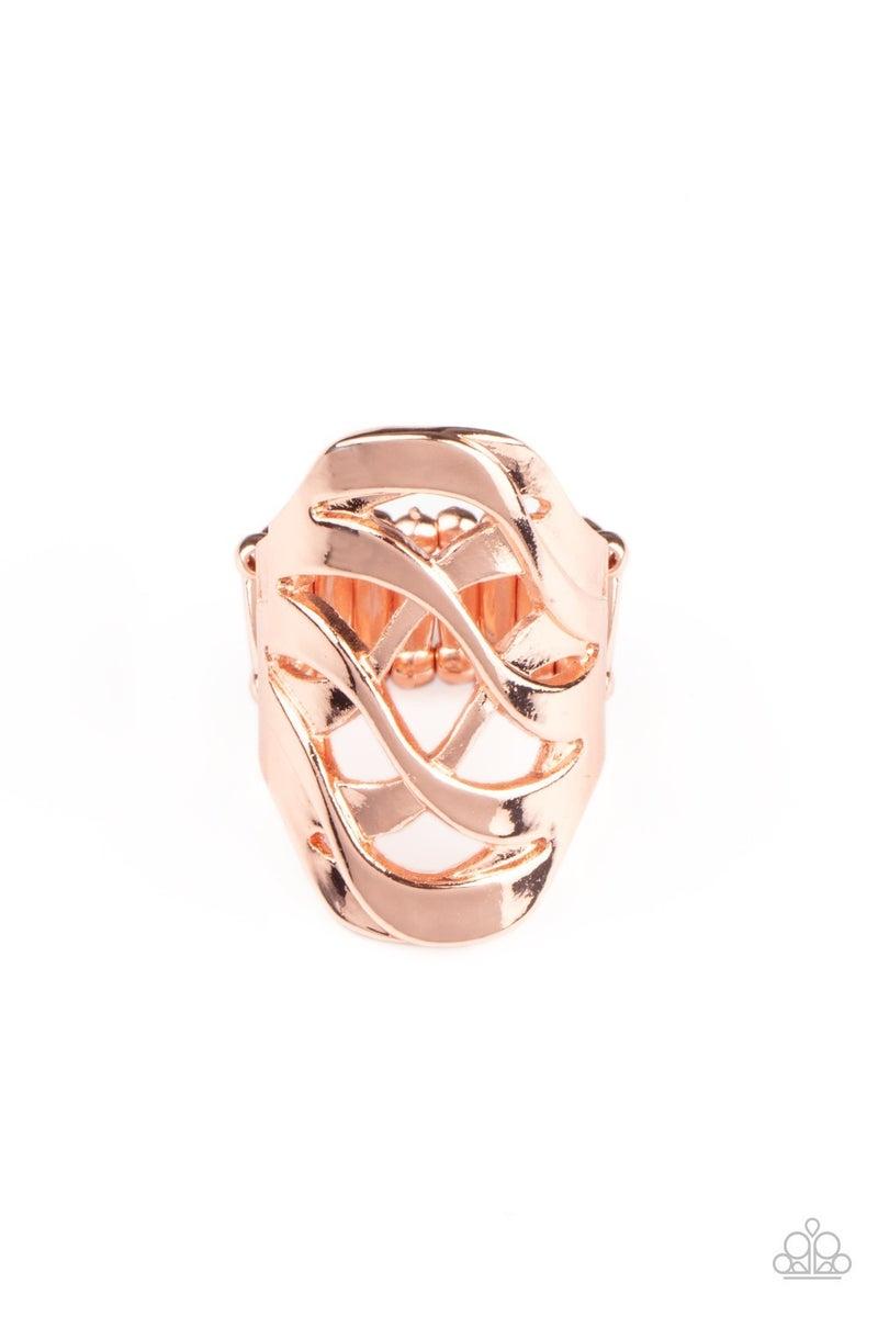 Open Fire Copper Ring