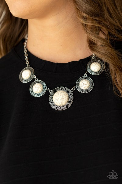 Circle The Wagons White Necklace