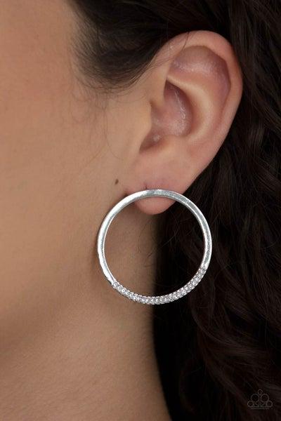 Spot On Opulence White Earring