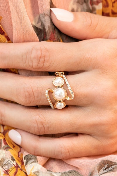 Posh Progression Gold Pearl Ring- PREORDER August FF