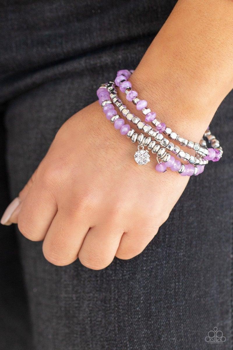 Glacial Glimmer Purple Bracelet