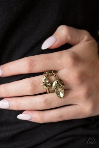 Flawless Foliage Brass Ring
