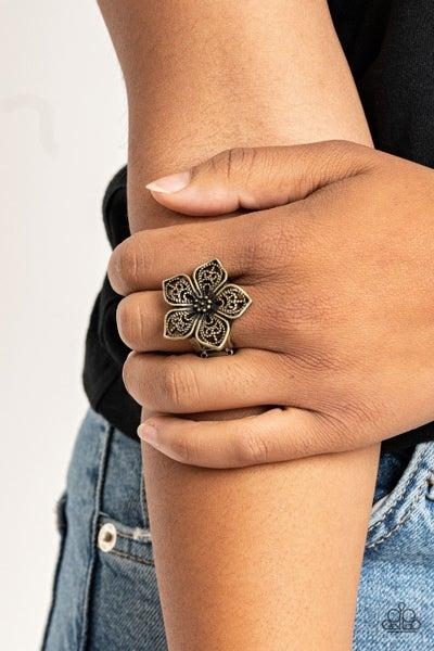 Full BloomFancy Brass Ring