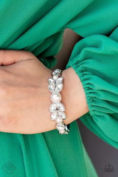 Regal Reminiscence White Bracelet -  Fashion Fix