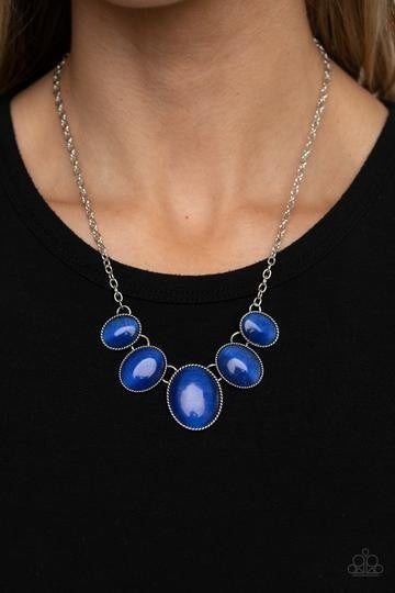 One Can Only GLEAM Blue Necklace