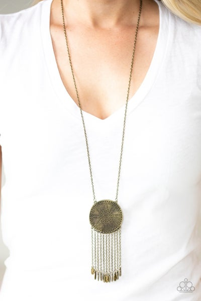 Nature's Melody Brass Necklace