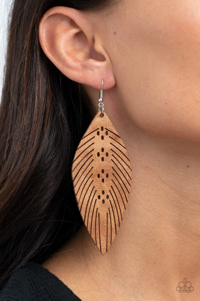 Wherever The Wind Takes Me Brown Earring