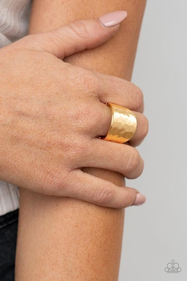Check Your Reflection Gold Ring