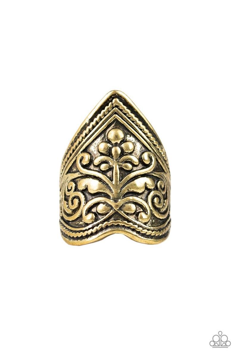 Fall Into VINE Brass Ring