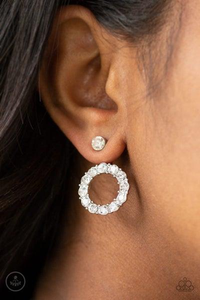 Diamond Halo White Earring