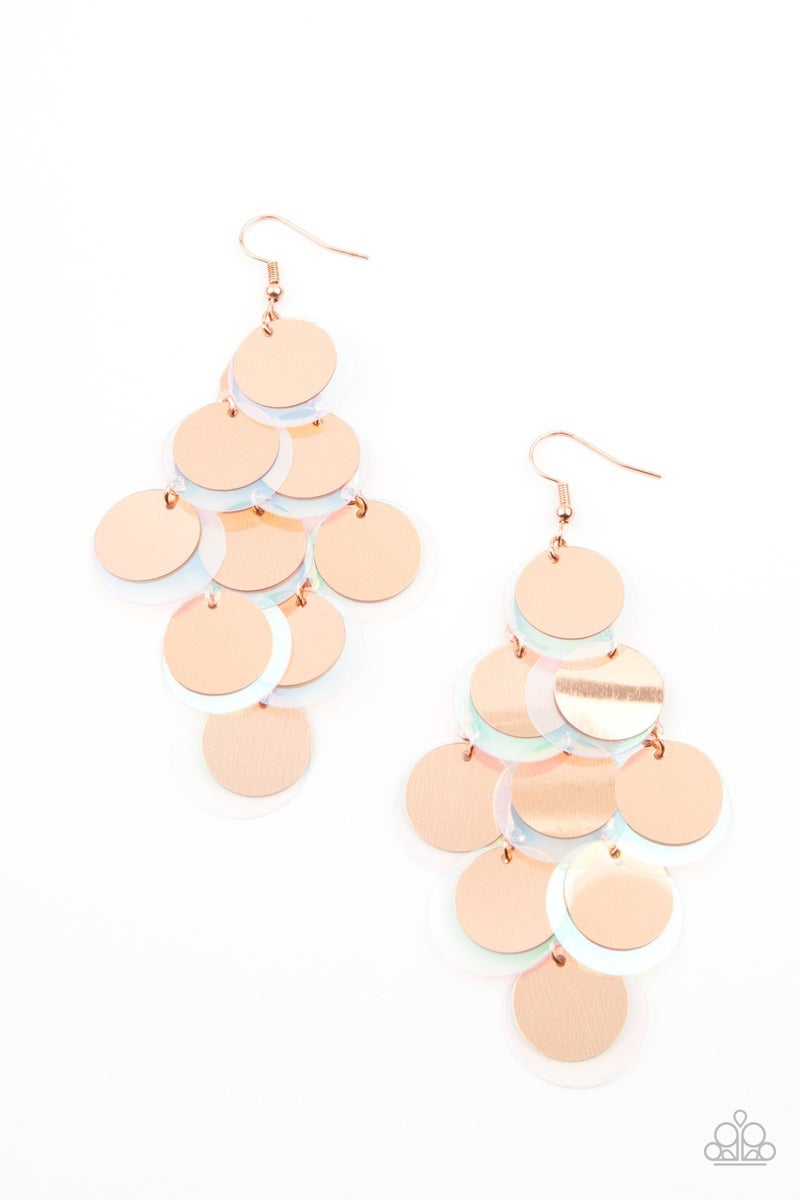 Sequin Seeker Copper Earring - Sparkle with Suzanna
