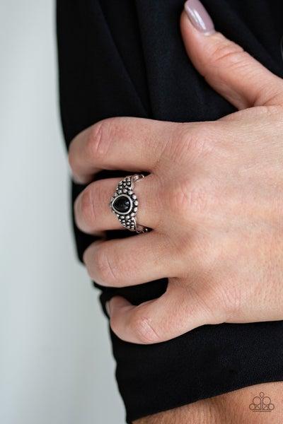 Pep Talk Black Ring