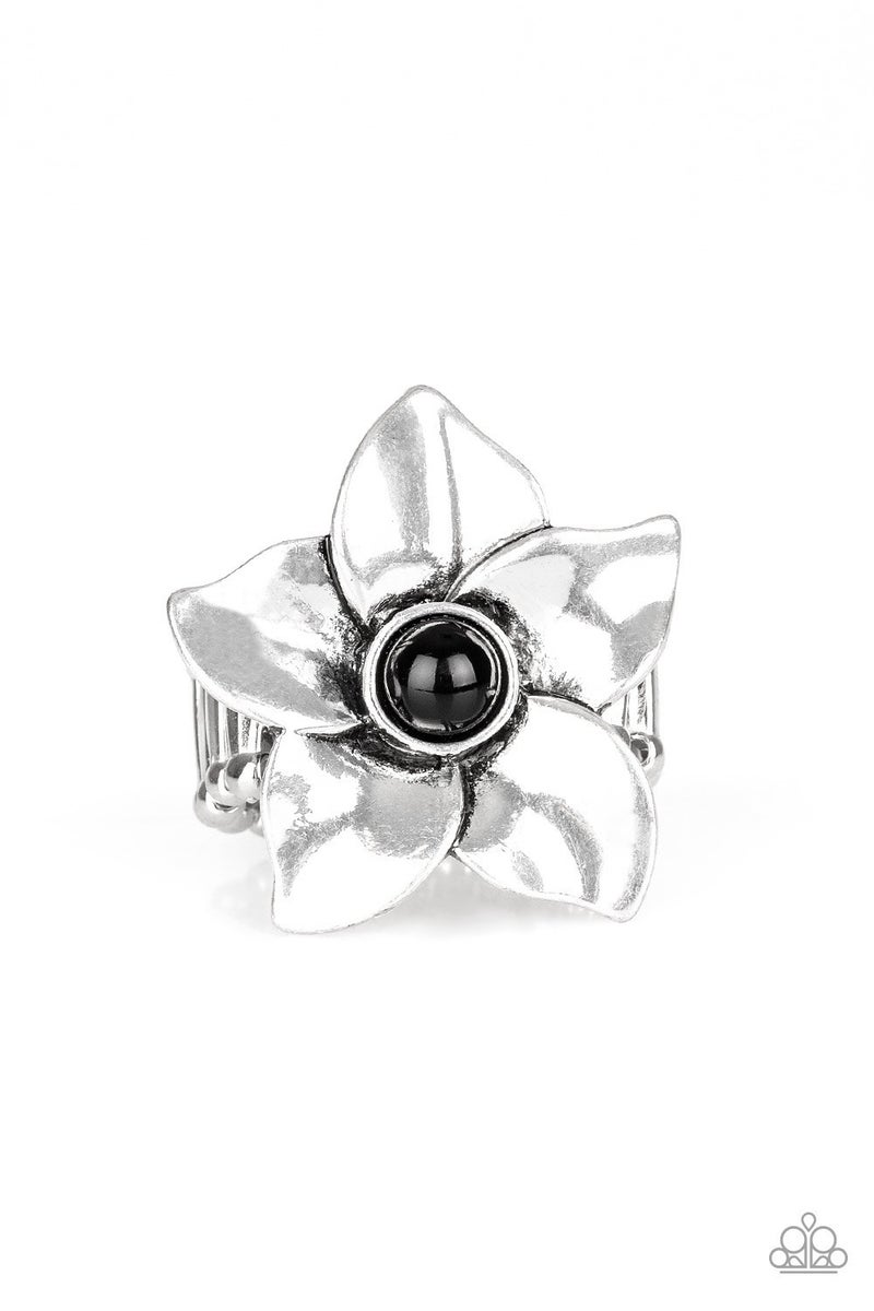 Ask For Flowers  Black Ring
