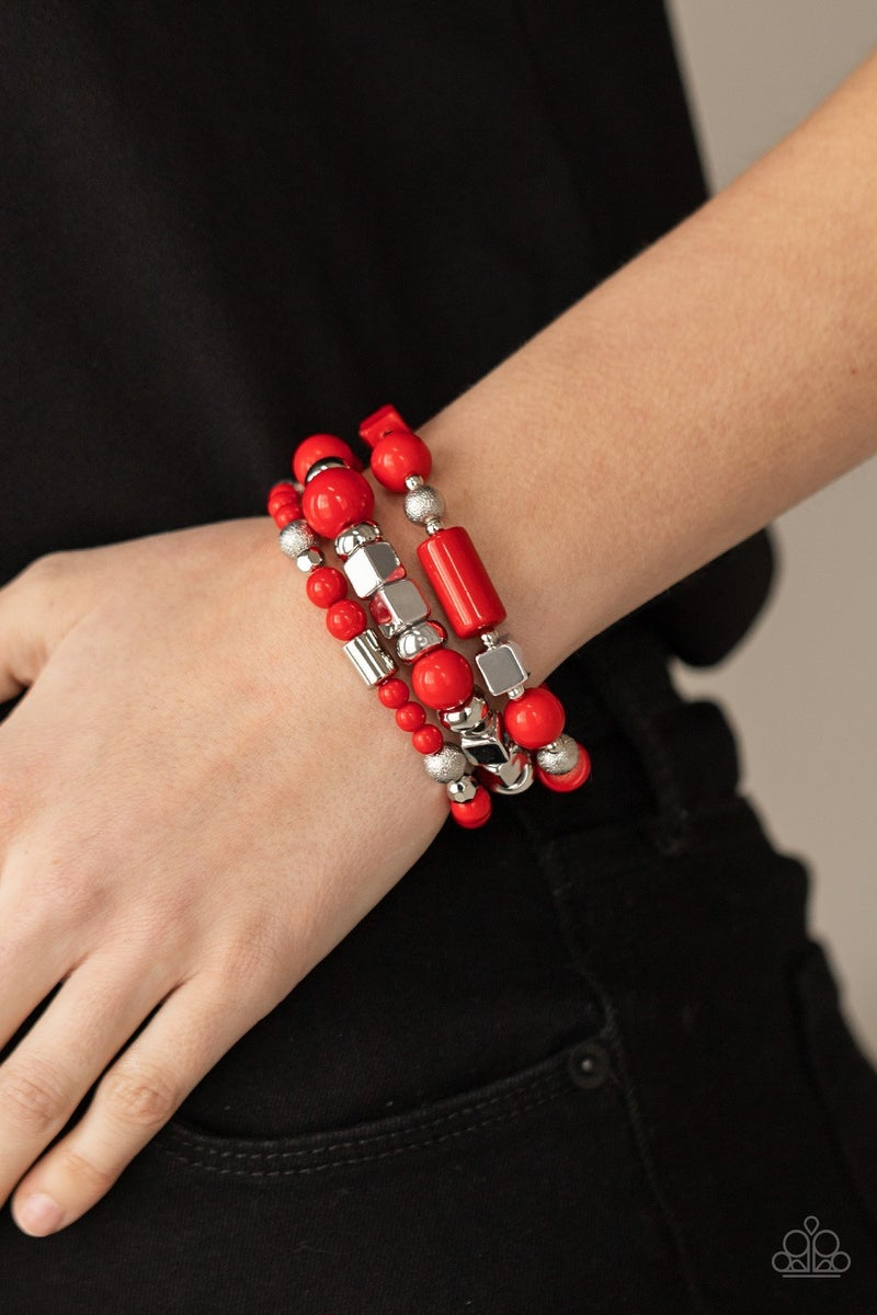 Perfectly Prismatic Red  Bracelet
