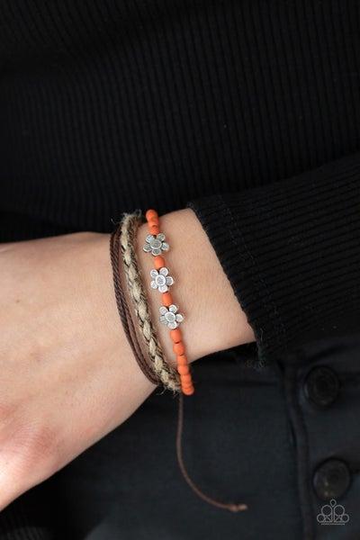 Raffia Remix - Orange Urban Bracelet