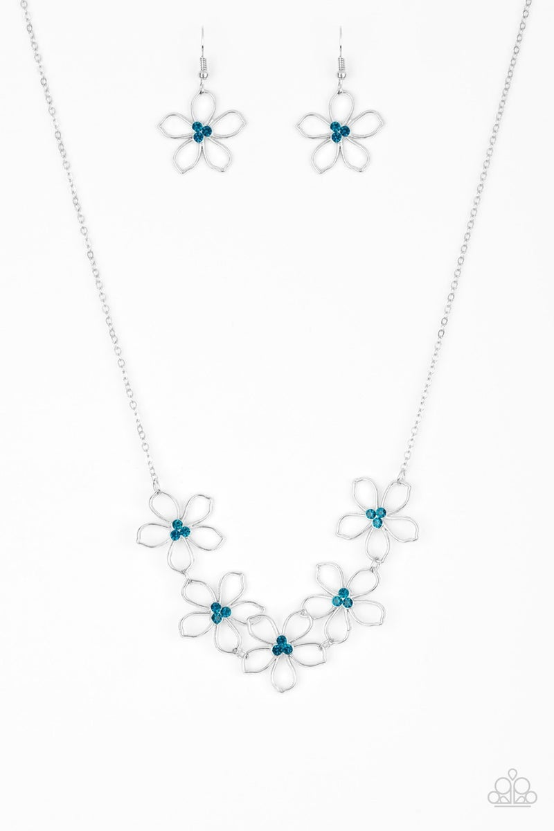Hoppin' Hibiscus Blue Necklace