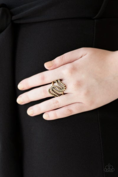 Make Waves Brass Ring - Sparkle with Suzanna