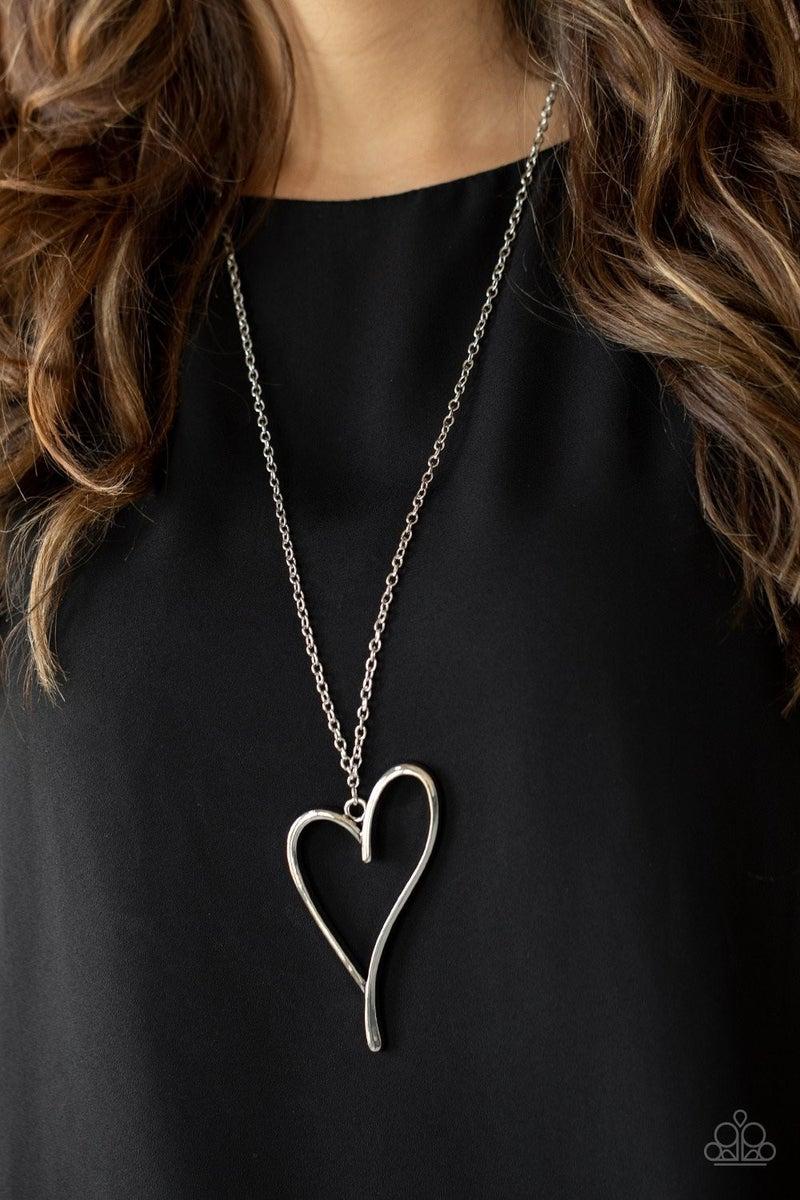 Hearts So Good Silver Necklace