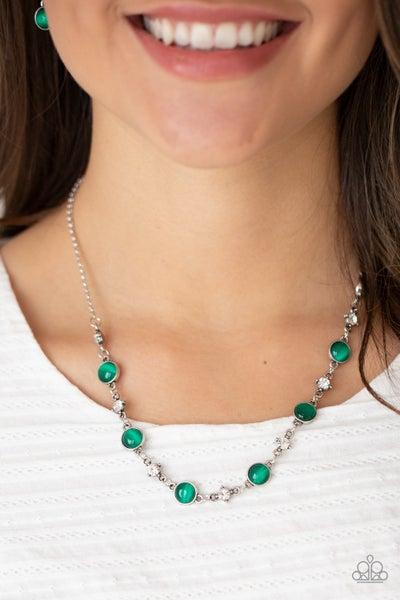 Inner Illumination Green Necklace
