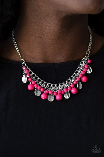 Summer Showdown  Pink Necklace - Sparkle with Suzanna