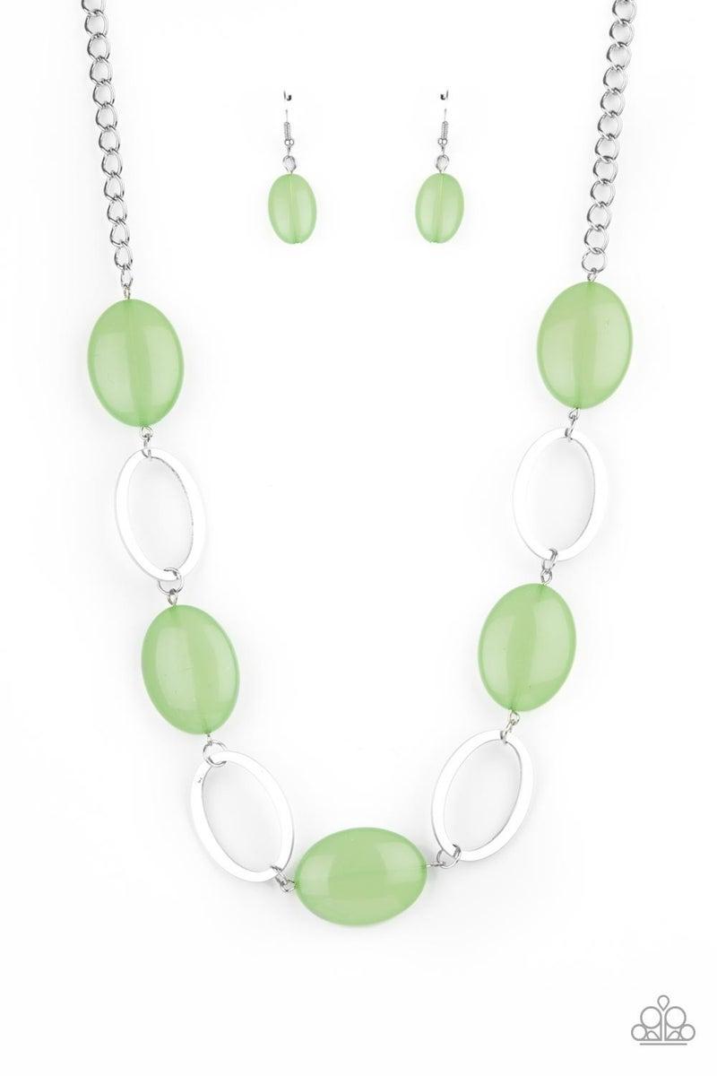 Beachside  Boardwalk Green Necklace