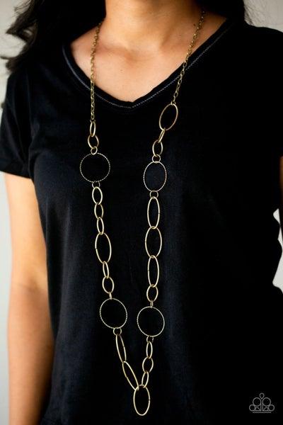 Paparazzi Perfect Mismatch Brass Necklace