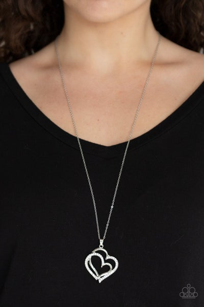 Lighthearted Luster White Necklace