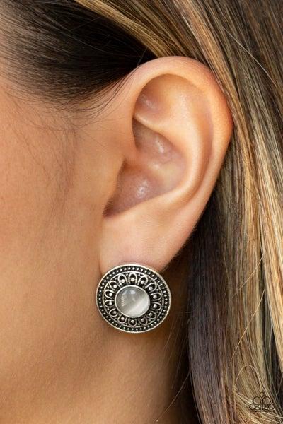 Fine Flora White Post Earring