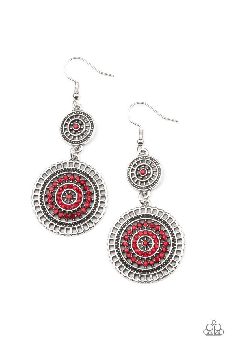 Bohemian Bedazzle Red Earring