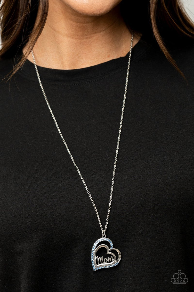 A Mother's Heart - Blue Necklace