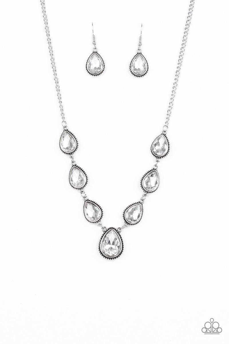 Socialite Social White Necklace - Sparkle with Suzanna