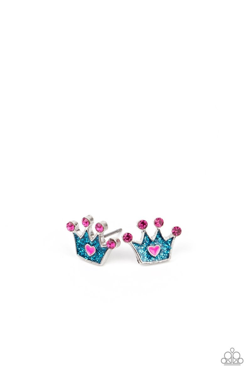 Starlet Shimmer Princess Crown Post Earrings - Sparkle with Suzanna