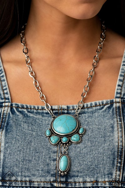 Geographical Gorgeous Blue Necklace